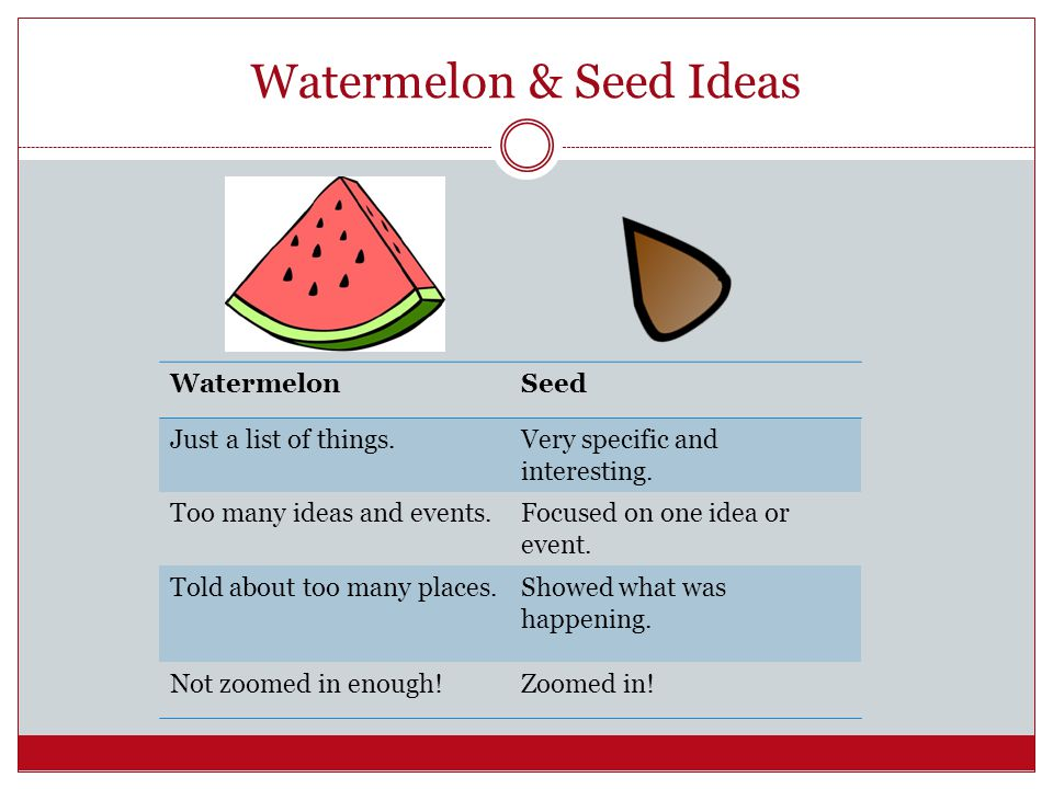 WatermelonSeed Just a list of things.Very specific and interesting.