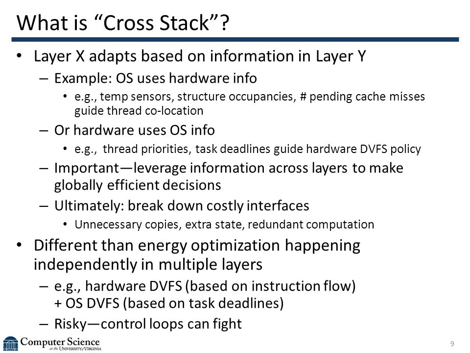 What is Cross Stack .