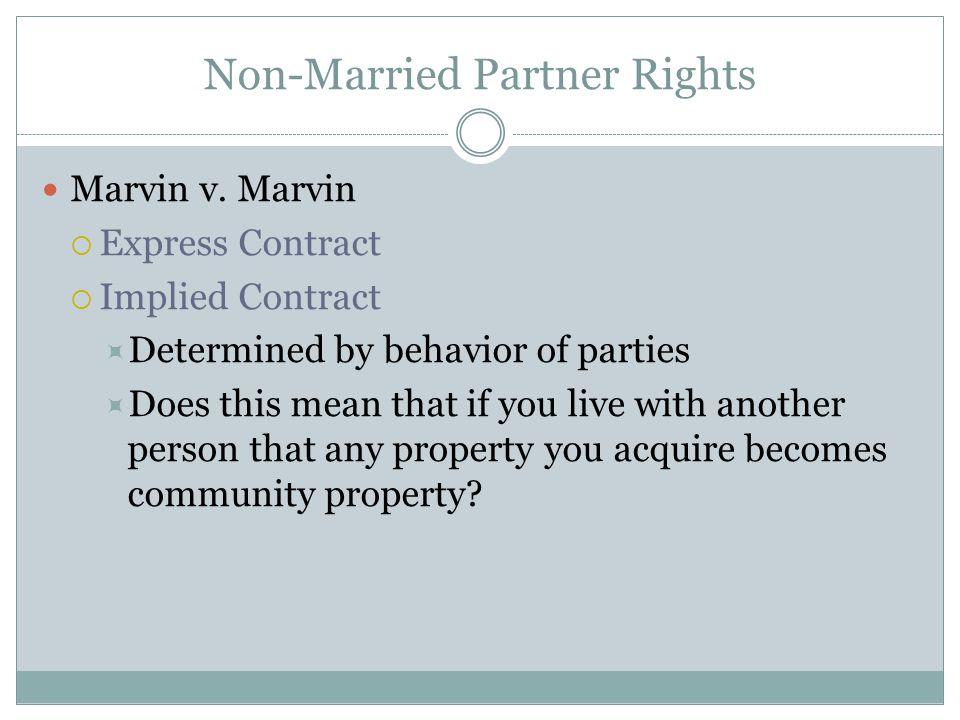 Non-Married Partner Rights Marvin v.