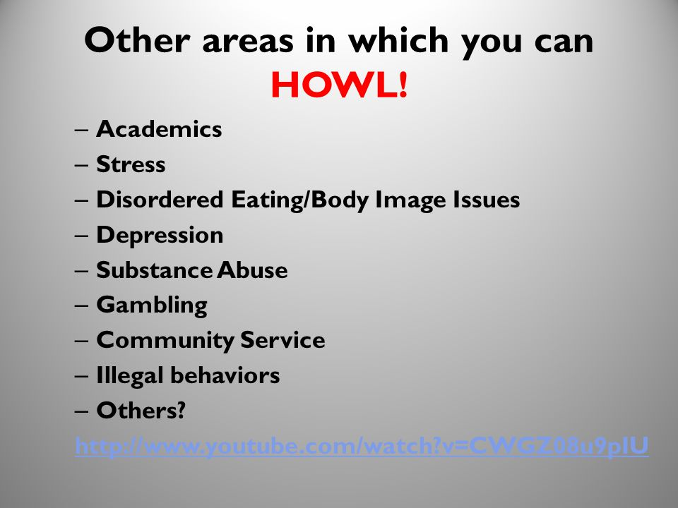 17 Other areas in which you can HOWL.