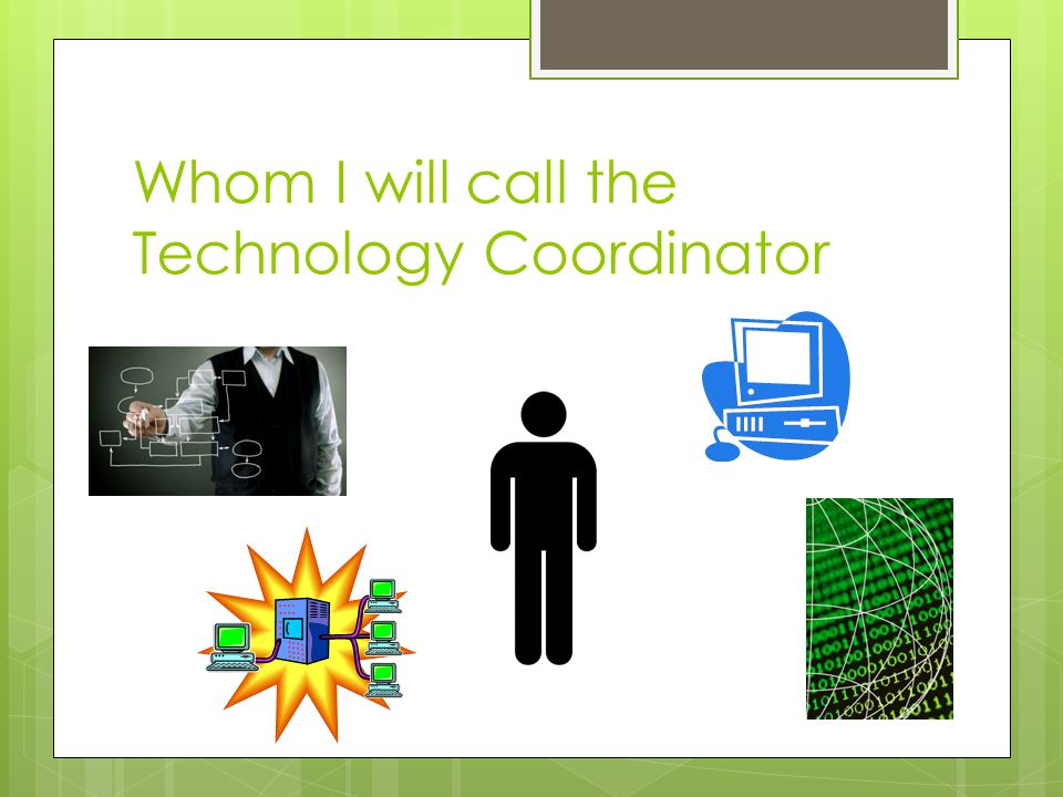 Whom I will call the Technology Coordinator