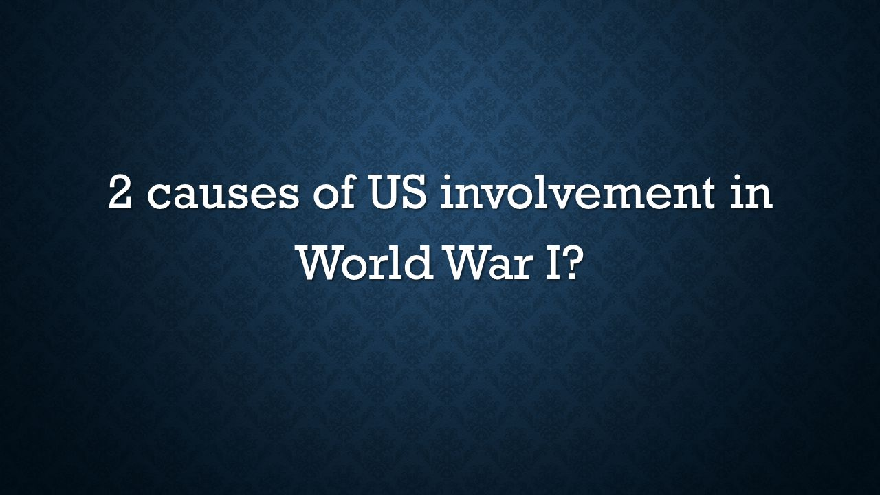 2 causes of US involvement in World War I?