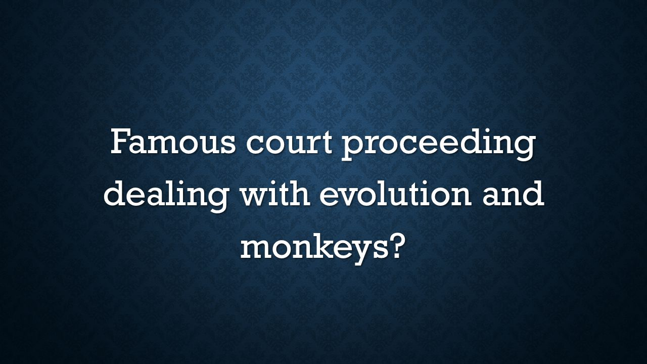 Famous court proceeding dealing with evolution and monkeys