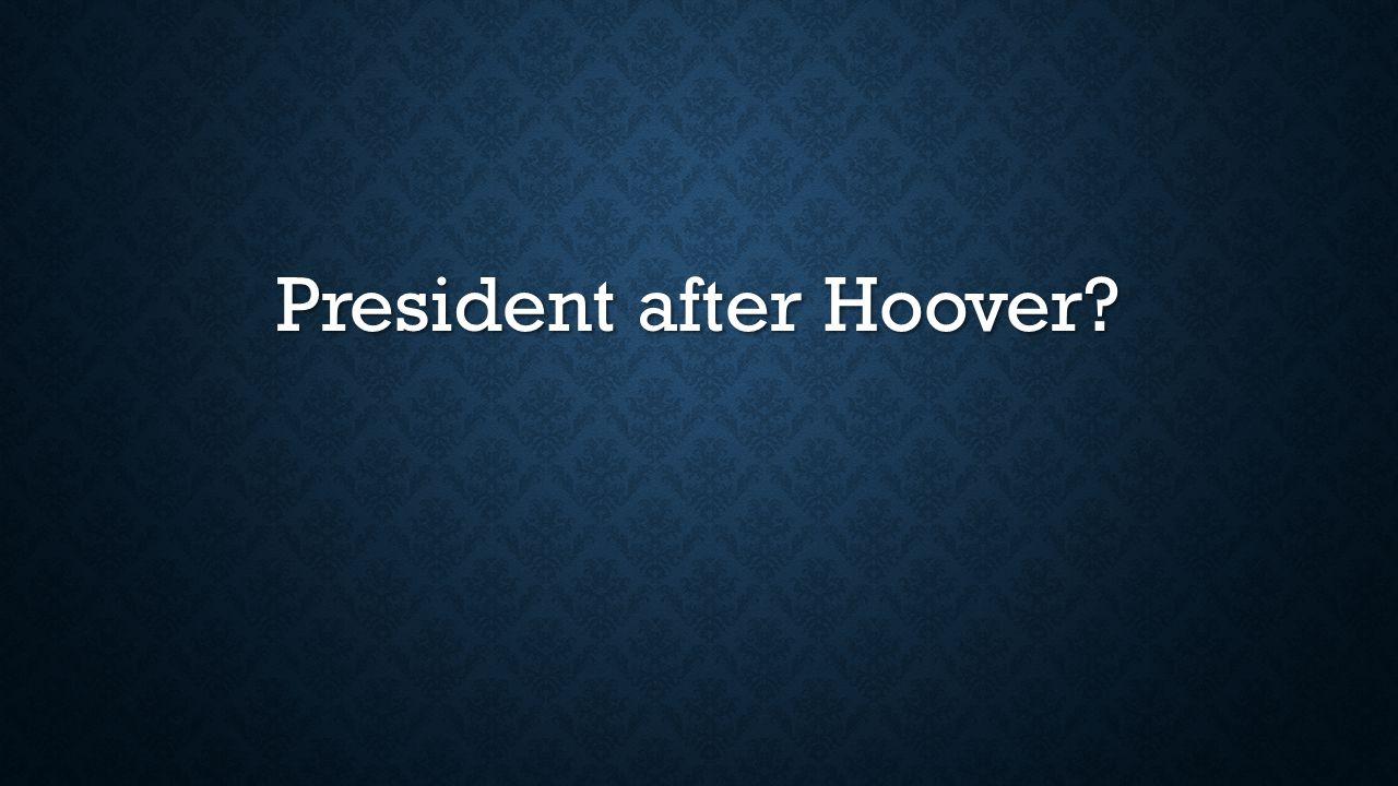 President after Hoover
