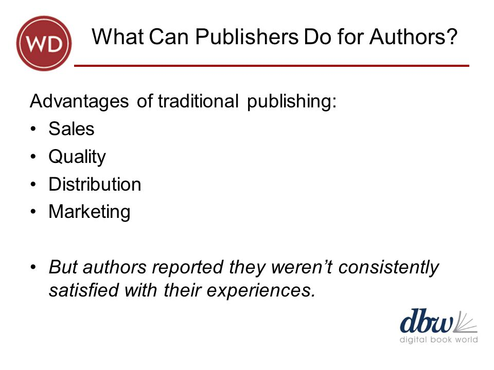 What Can Publishers Do for Authors.