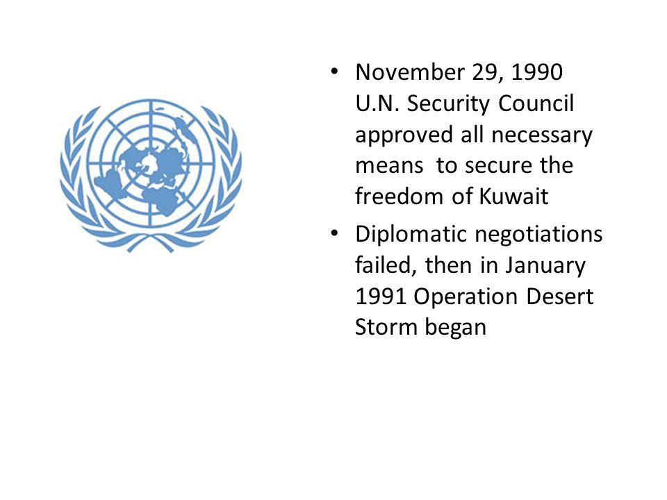 November 29, 1990 U.N.
