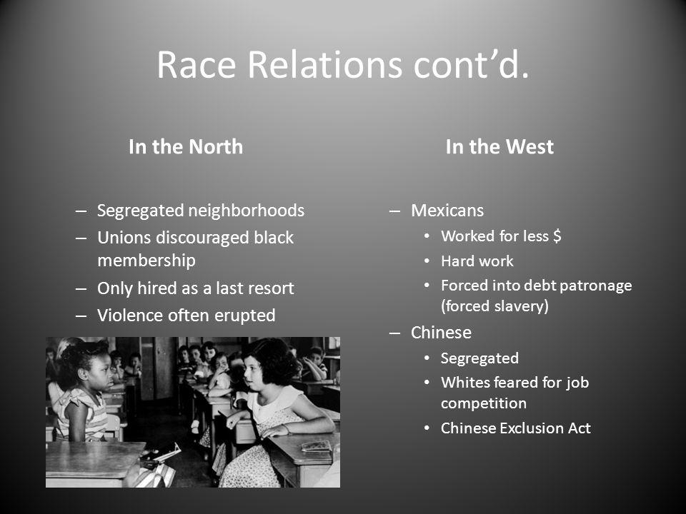Race Relations cont'd.