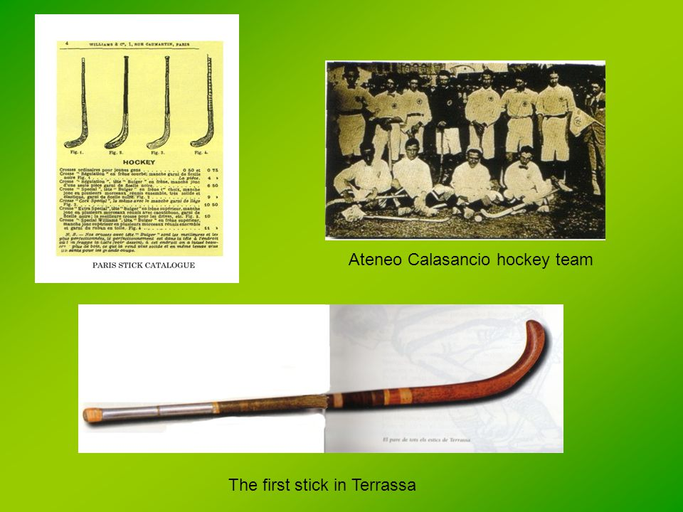 Ateneo Calasancio hockey team The first stick in Terrassa