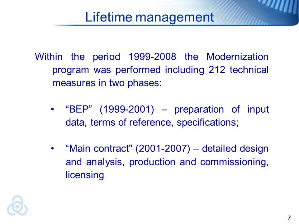 8 Kozloduy NPP Мodernization Program Goals:Safety Improvement of in-depth defence.Improvement of in-depth defence.