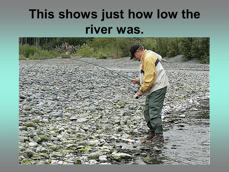 This shows just how low the river was.