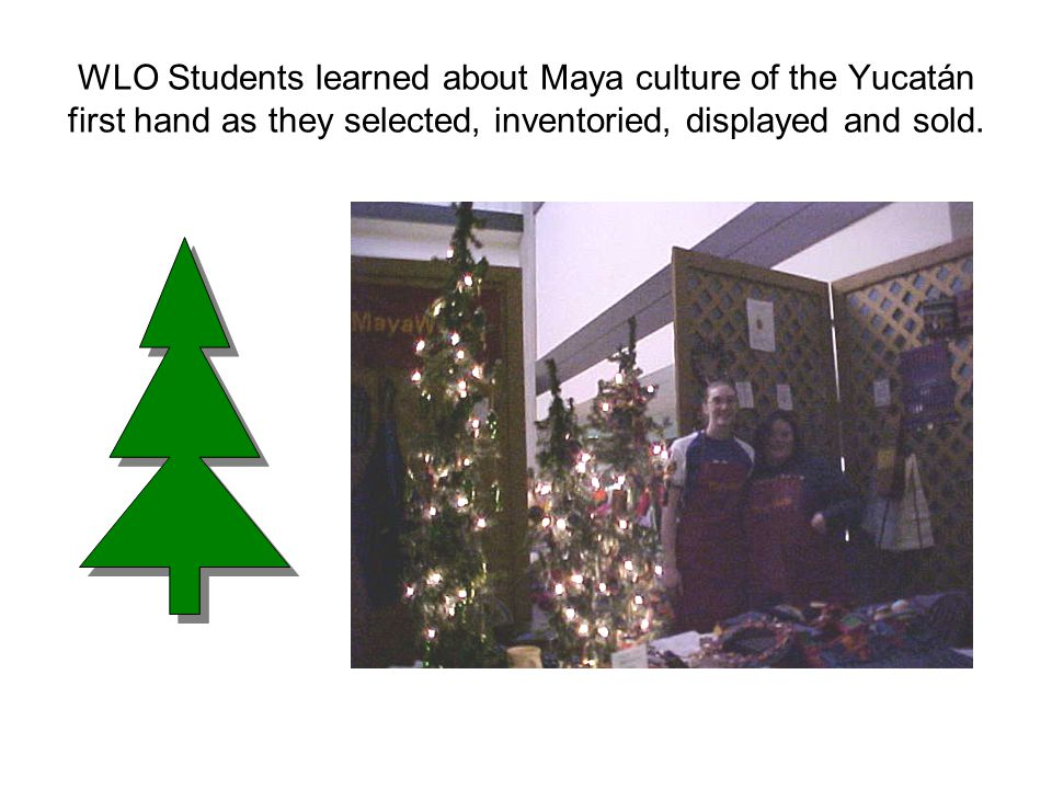 WLO Students learned about Maya culture of the Yucatán first hand as they selected, inventoried, displayed and sold.