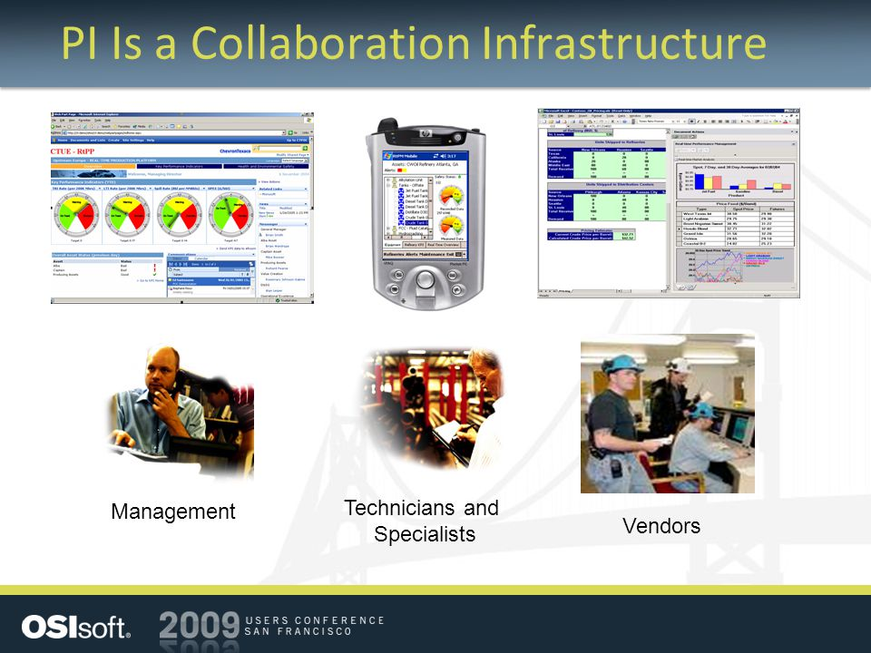 PI Is a Collaboration Infrastructure Management Vendors Technicians and Specialists