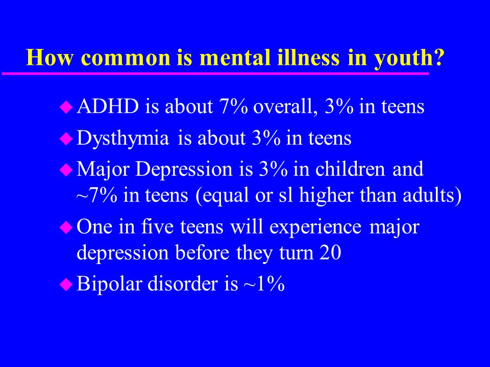 How common is mental illness in youth.