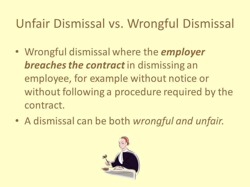 Unfair Dismissal vs.