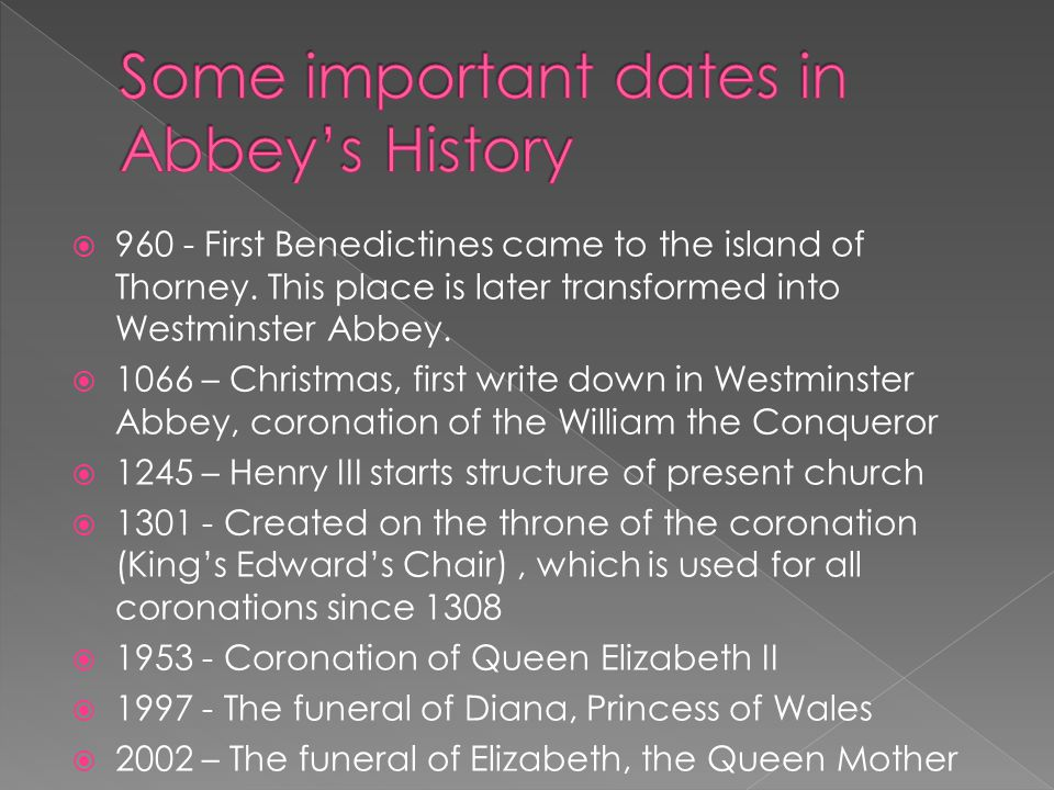  960 - First Benedictines came to the island of Thorney.