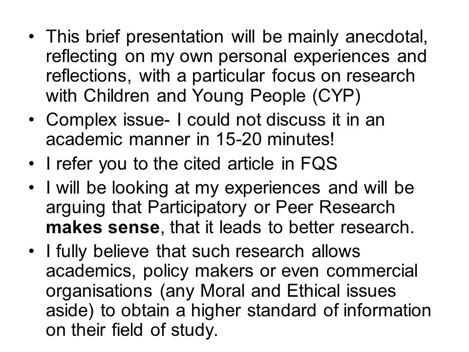This brief presentation will be mainly anecdotal, reflecting on my own personal experiences and reflections, with a particular focus on research with