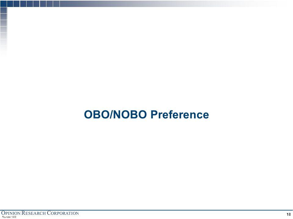 Founded 1938 18 OBO/NOBO Preference