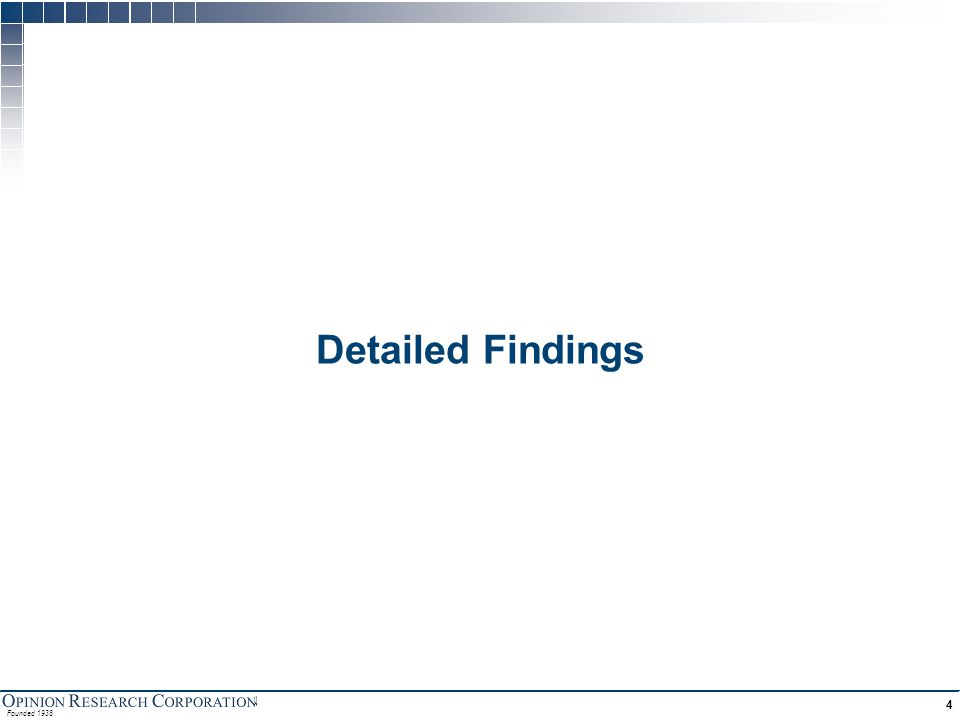 Founded 1938 4 Detailed Findings