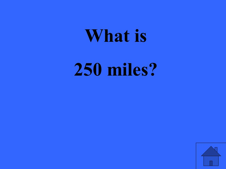 What is 250 miles