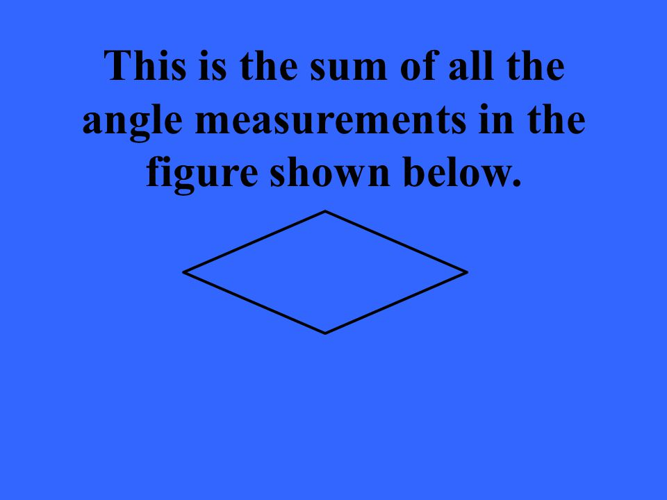 This is the sum of all the angle measurements in the figure shown below.