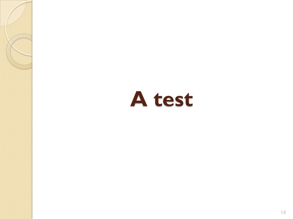 A test 14