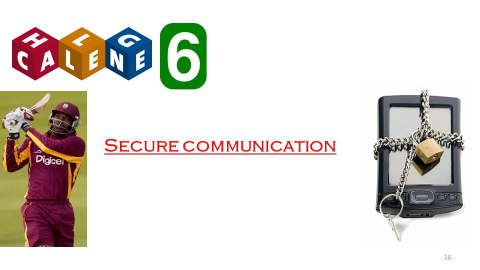 Secure communication 36