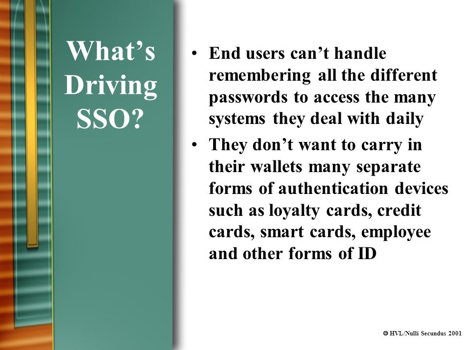  HVL/Nulli Secundus 2001 What's Driving SSO.
