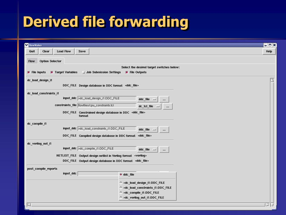 57 Derived file forwarding