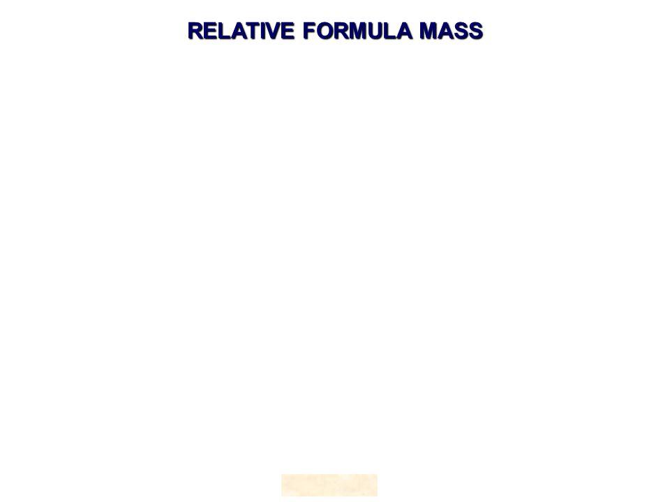 RELATIVE FORMULA MASS HOPTON