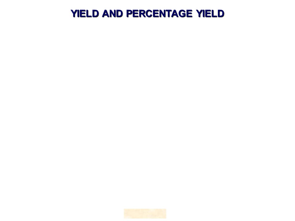 HOPTON YIELD AND PERCENTAGE YIELD