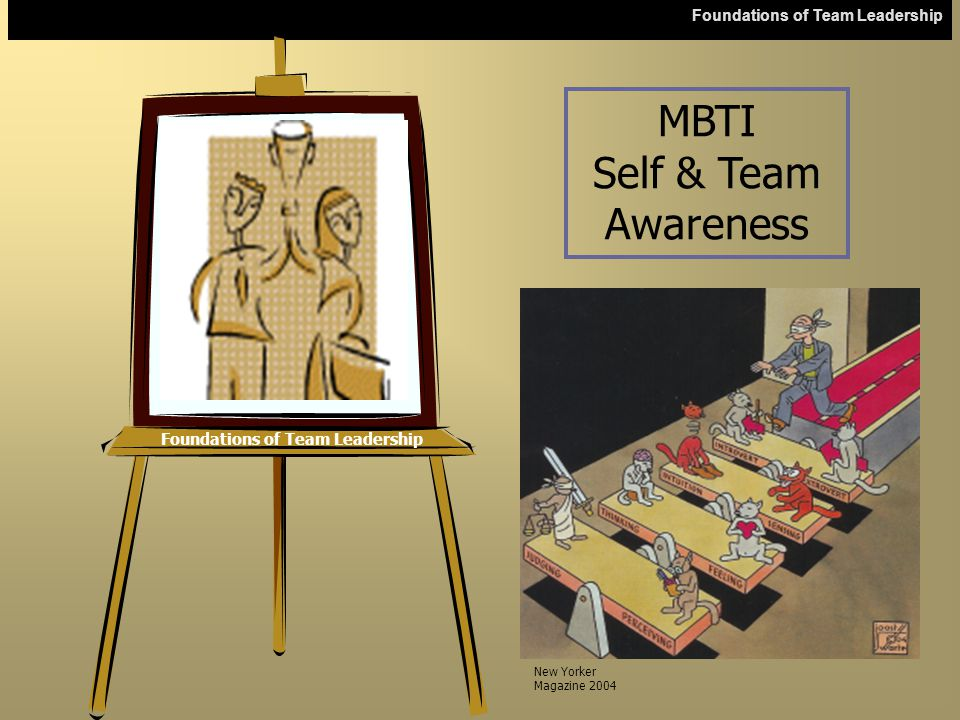 Foundations of Team Leadership The MBTI Report The report provides information about  Four MBTI preference scales  The Letters  Types  Extra Reading References