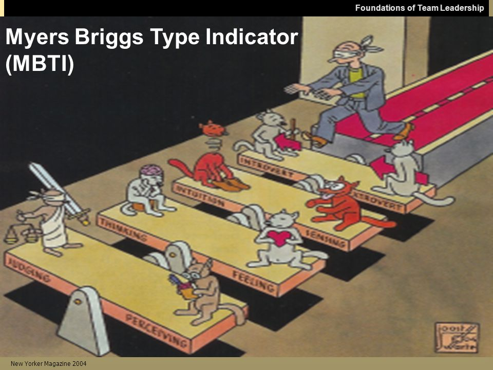 Foundations of Team Leadership New Yorker Magazine 2004 Myers Briggs Type Indicator (MBTI)
