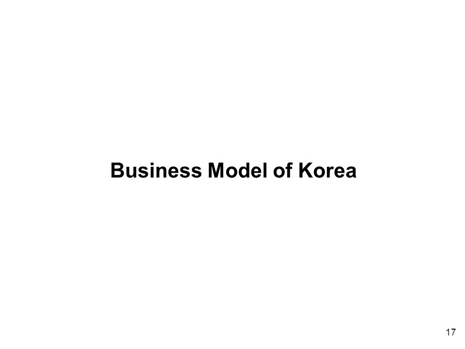 17 Business Model of Korea