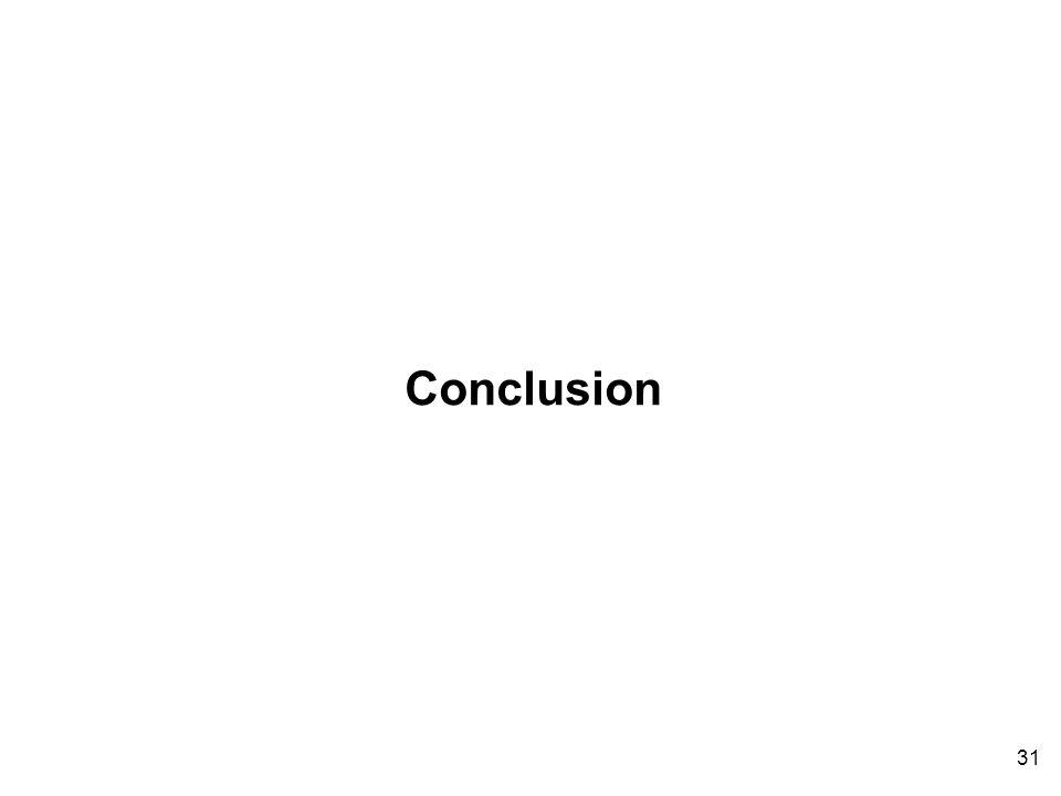 31 Conclusion