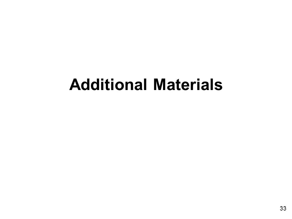 Additional Materials 33