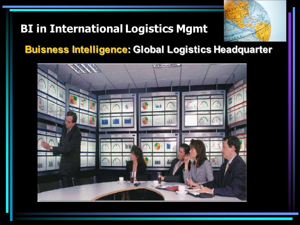 BI in International Logistics Mgmt Buisness Intelligence: Global Logistics Headquarter