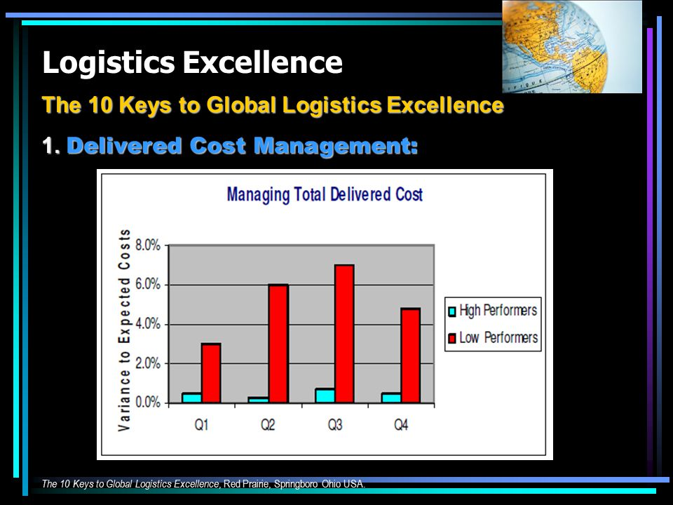 Logistics Excellence The 10 Keys to Global Logistics Excellence 1.