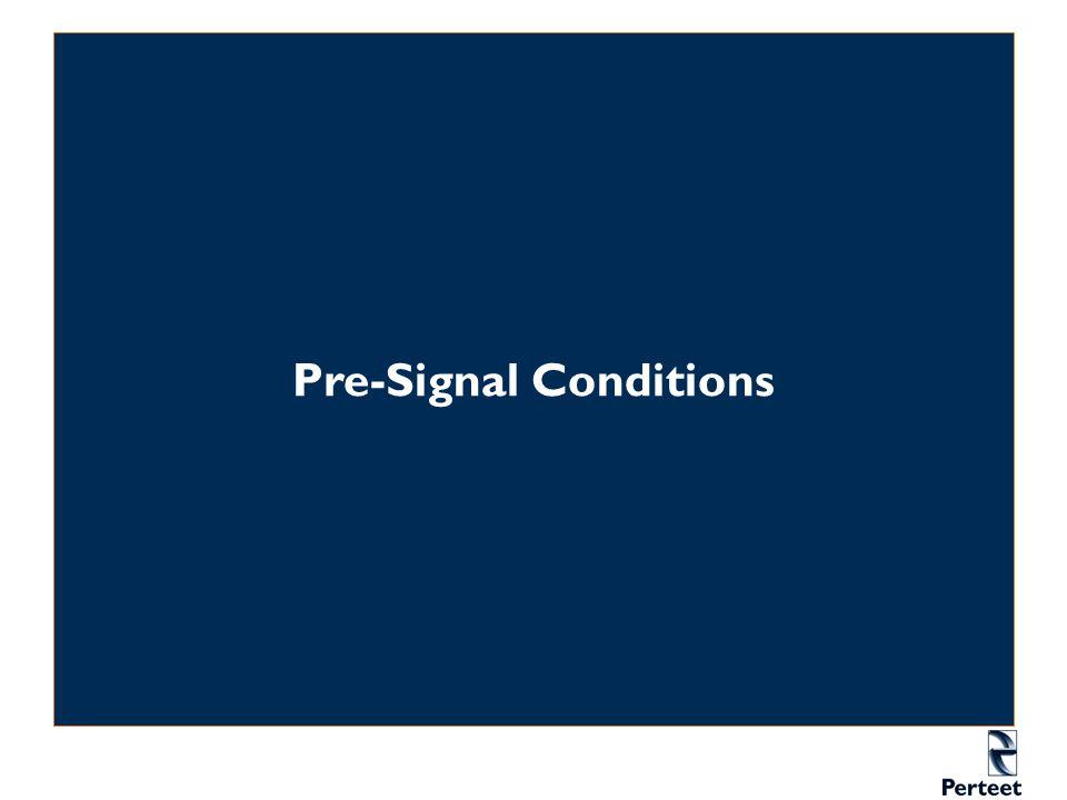 Pre-Signal Conditions