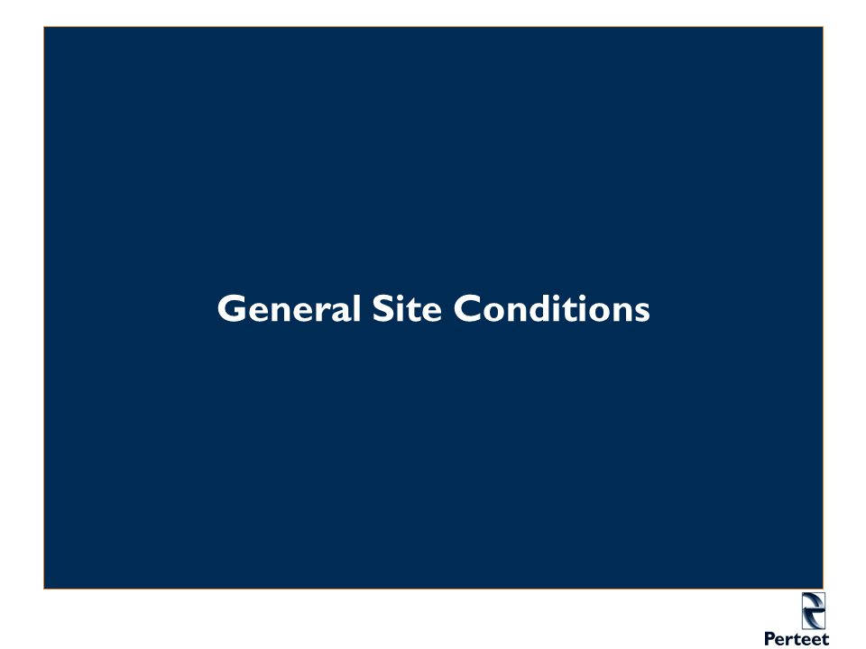 General Site Conditions