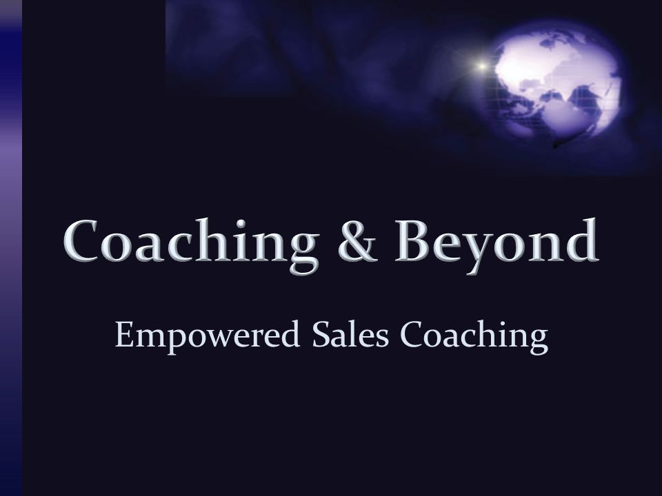 Empowered Sales Coaching