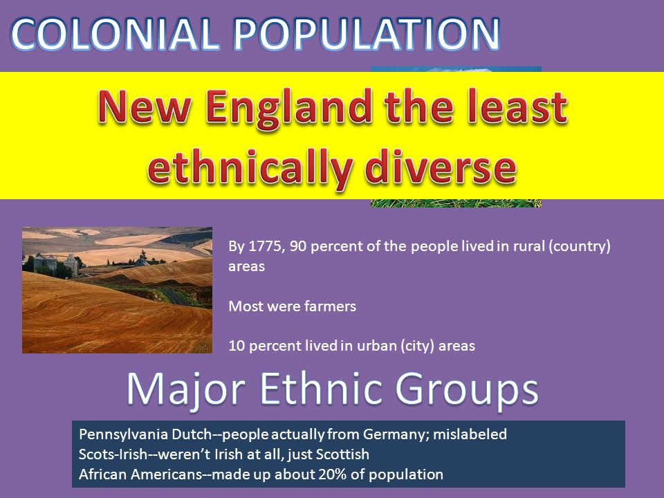 In colonial America, it was known as the land of opportunity and equality (excluding slaves) Most Americans were farmers and lived on farms America allowed anyone to rise in social class including 2 indentured servants who signed Declaration of Independence In the South, power was in the hands of large land owners
