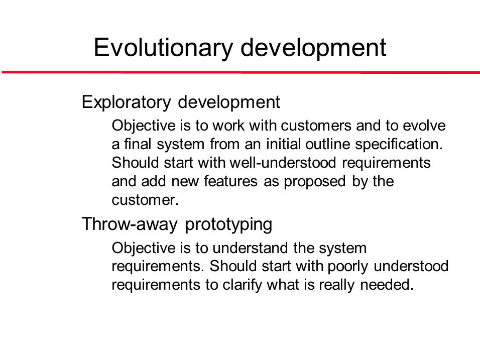 ©Ian Sommerville 2004Software Engineering, 7th edition. Chapter 4 Slide 10 Evolutionary development