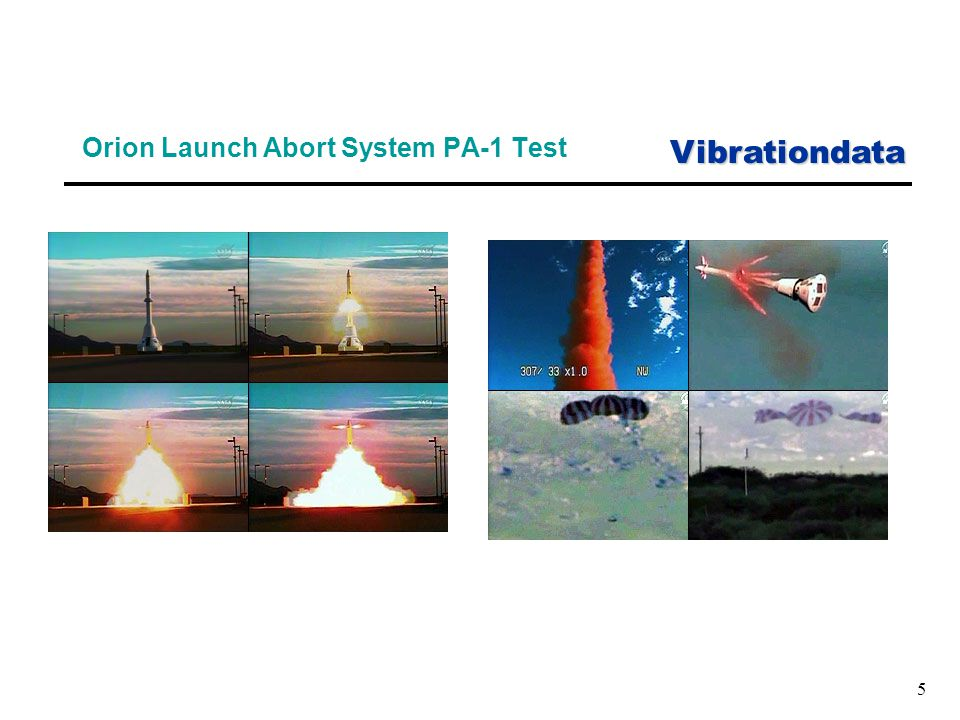 Vibrationdata 5 Orion Launch Abort System PA-1 Test