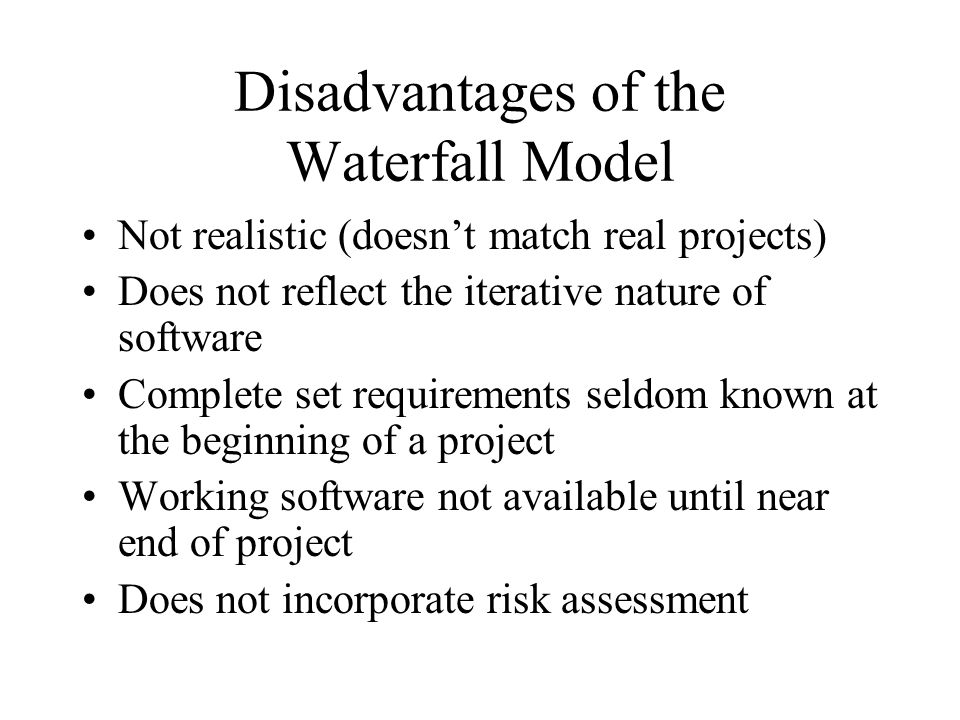 Object-Oriented Models Requirements analysis and design tend to be blurred Tend to be iterative in nature Usually incorporate risk management Incorporate requirements management and change control Emphasize the use of visual models (e.g.