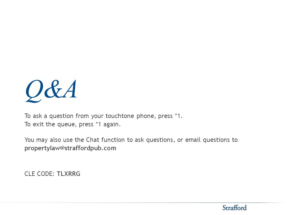 Q&A To ask a question from your touchtone phone, press *1.