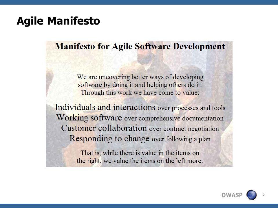 OWASP Agile Manifesto 2