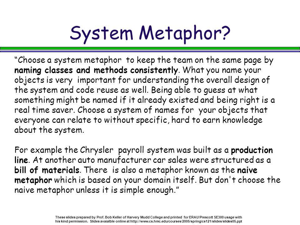 System Metaphor.