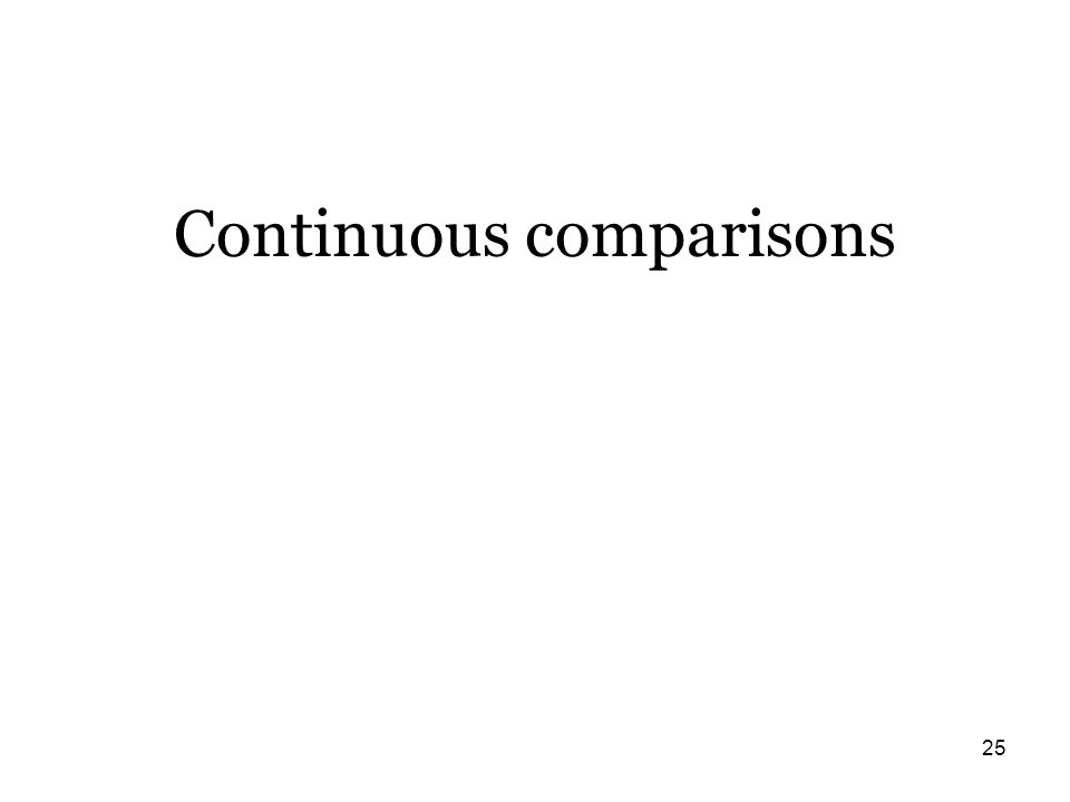 25 Continuous comparisons