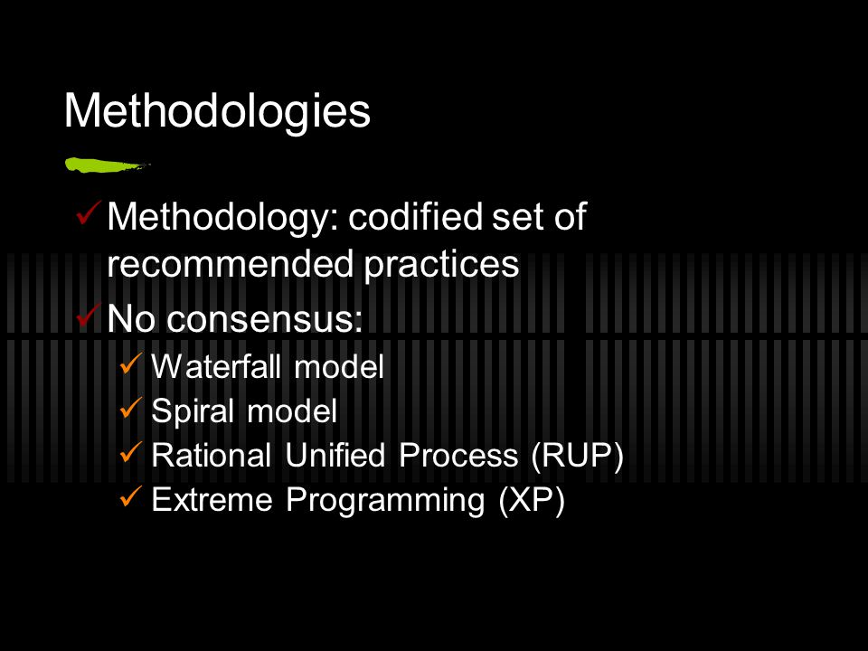 RUP Criticism 'High ceremony methodology' Bureaucratic: process for everything Slow: must follow process to comply Excessive overhead: rationale, justification, documentation, reporting, meetings, permission