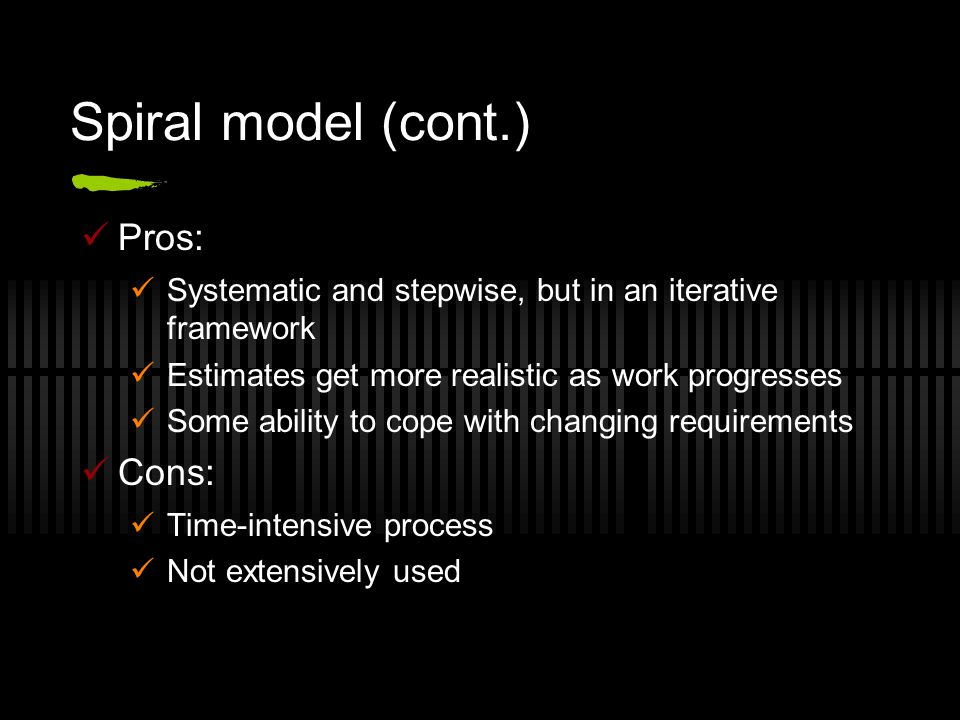 Rational Unified Process (RUP) Defined in 1997 by Grady Booch, Ivar Jacobson and James Rumbaugh General framework to describe specific development processes Designed to be tailored for a given software project with consideration for its size and type Recognized to be particularly applicable to large projects with large teams